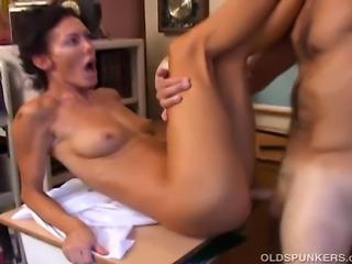 Gorgeous mature pornstar enjoys a hard fucking and a big old sticky facial...
