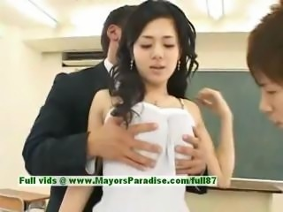 Sora Aoi innocent sexy japanese student is getting fucked in the classroom
