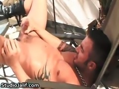 Martin Mazza showing his fine tight gay part6