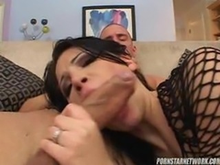 Latin Babe Rebecca Linares Gets DP'd Before Swallowing Some Cum
