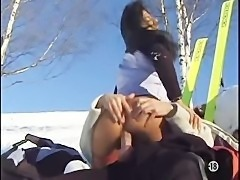 Adeline Lange  fuck in the ass in the snow