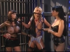 Hot blond gagged and bound in prison