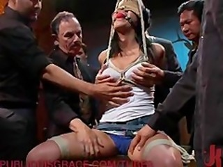 Slut's Pussy Gets Destroyed in a Bar