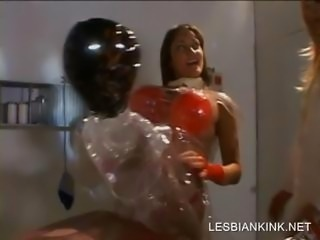 Slut playing sex games with a blow up doll
