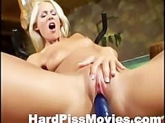 Busty Blonde Fingering And Peeing