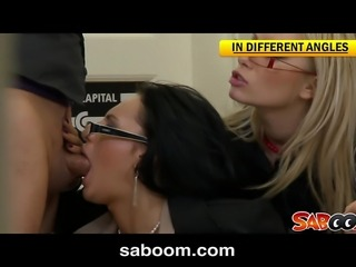 Office Anal Threesome Spy Cam Video