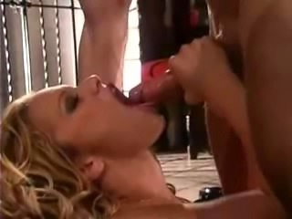 blonde furiously fucked on velvet couch, titfucked, then just licks the...