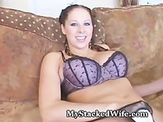Stacked Wife Bangs Pussy To Orgasm