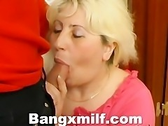 Blonde Milf Boobs Squeezed And Fucked