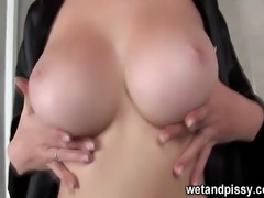 Nicol looks great as she jiggles her big boobs in the shower. After playing...