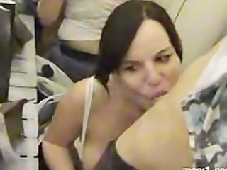 Blowjob in german changingroom