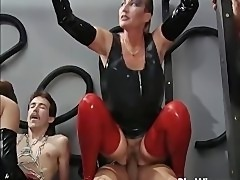 Hot and dirty group sex with mature
