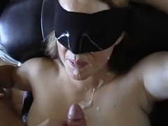 Blindfolded massive Facial