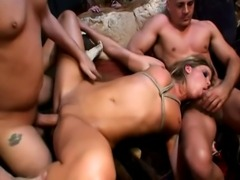 25 year old brunette from Czech Republic does anal with a 2 European guys...
