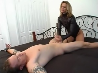 Sexy daddy Mistress hand job tease