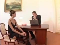 Nerdy secretary sex in thigh hi ... free