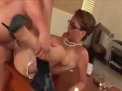 Holly West banged on the table at High Def Moms free