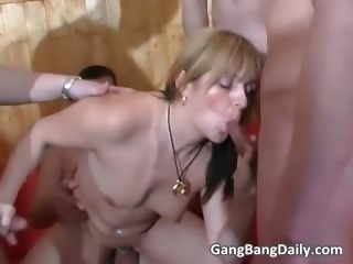France gang bang action with horny MILF part6