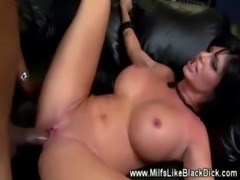 MILF gets pounded hard with black cock free