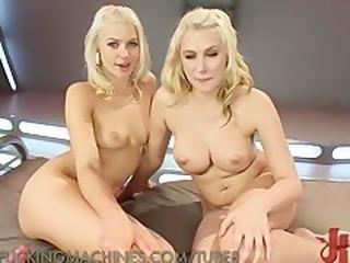 Lesbian Blondies Love Fucking Machines