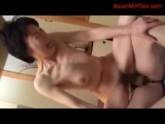 Mature Woman Getting Her Hairy Pussy Fucked By Young Guy Creampie On The...