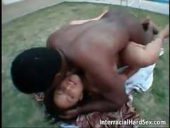 Sexy slut fucks with big black cock part6