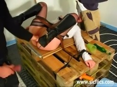 Amateur wife fisted by two builders free