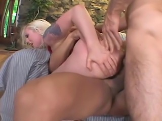 26 year old blonde with 34C tits and a 34 inch ass does rough anal and DP...