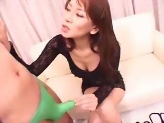 Asian Beauty Gives Handjob