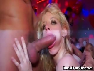 Crazy drunk brunette girl jerks part5
