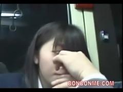 schoolgirl blowjob to geek on bus free
