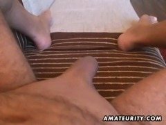 Busty amateur wife handjob and blowjob with cum in mouth free