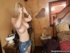 Blonde With Huge Tits Fucks Fri ... free