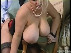 Big tit blonde BBW gets a good fucking free
