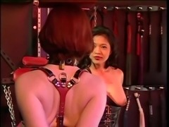 Small tits hottie submitting to the whims of her asian mistress