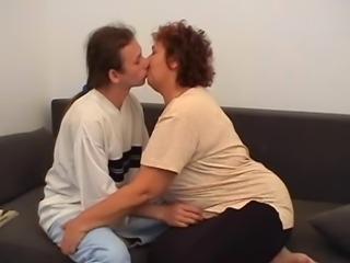 old mom vs cock