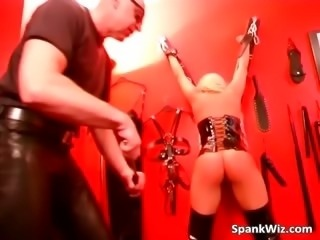 Naughty old guy spanks ass of beautiful part1