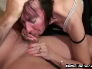 Getting hammered by a much younger stud makes this mature widow moan of...