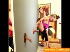 Cougars try out a cfnm gloryhole free