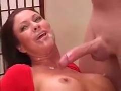 Kinky redhead Milf takes on two ... free
