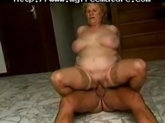 This Bbw Gran Enjoys A Good Romp With An Older Guy mature mature porn granny old cumshots cumshot
