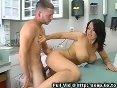 Busty Brunette MILF Nurse free