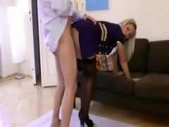 Blonde pilot gets cock in her pit free