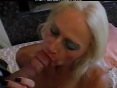 Blonde Old Mature  Tart In Fishnets Fucks mature mature porn granny old...