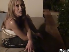 asian MILF smoking on patio and give BJ