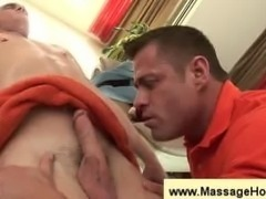 Massage of the the butt and the penis