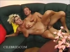 Fucking his aunt with his big cock hardcore hairy blowjob doggystyle mature blonde