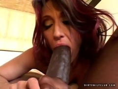 Cougar Jillian foxxx fucked a black monster free