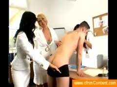 Doctor assistents undressing a guy free