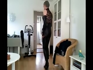 Sissy sexy leather girl 2
